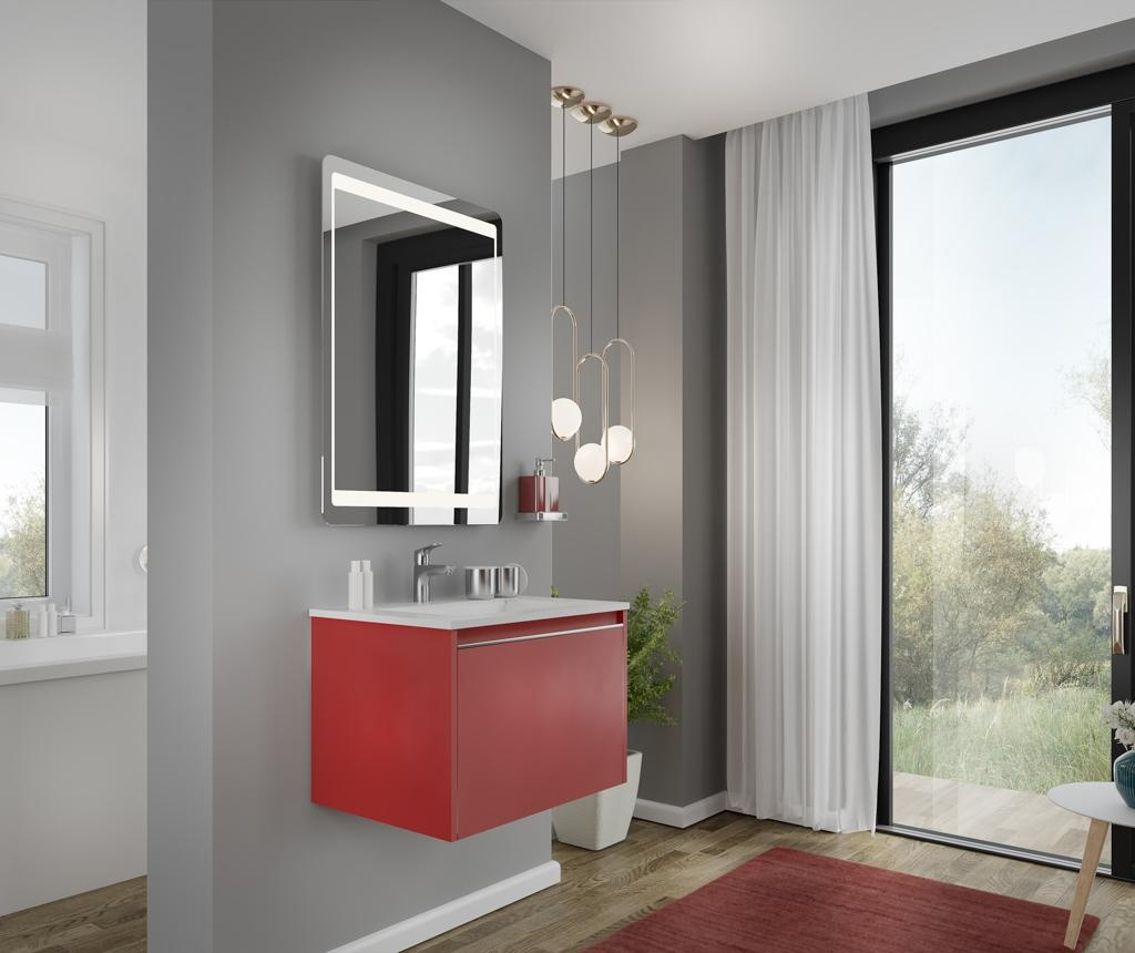Set masca si lavoar Cielo 60 Imperial Red