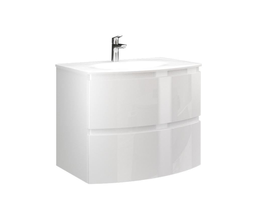 Armonia 70 White Mosdószekrény és mosdókagyló