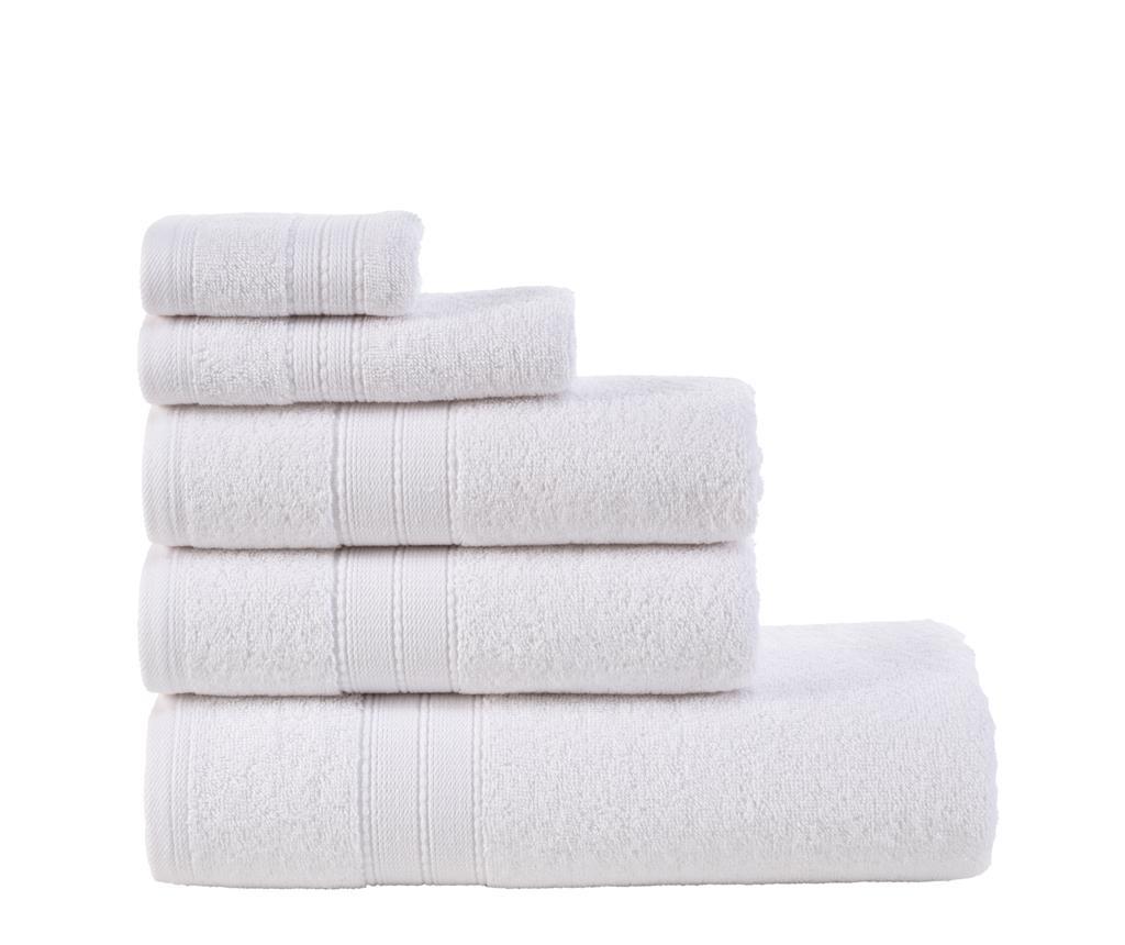 Set 5 ručnika Monica White
