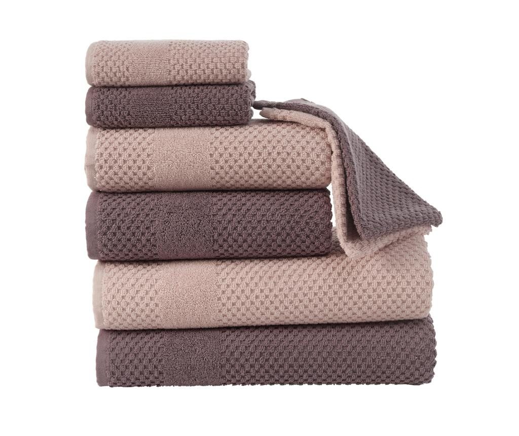 Set 8 ručnika Soft Brown