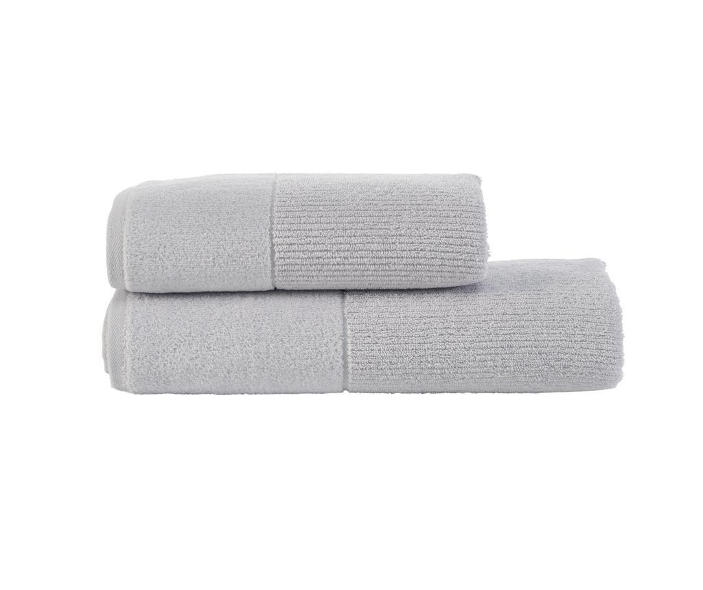 Set 2 ručnika Bianca Silver