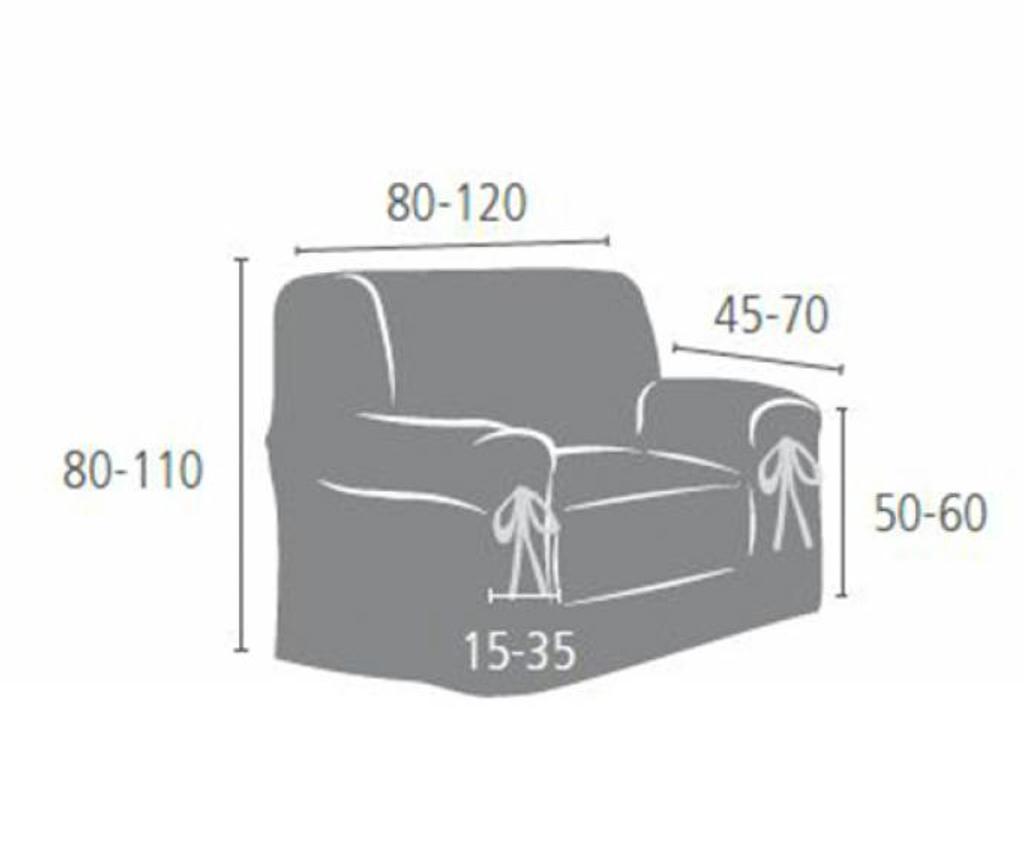 Pokrowiec na fotel Calma Cream 80x45x50 cm