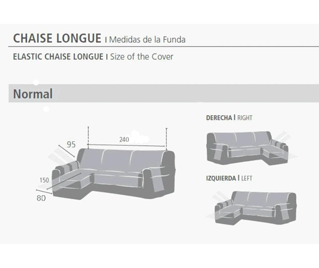 Levante Cream Jobboldali sarokkanapé huzat 80x240 cm