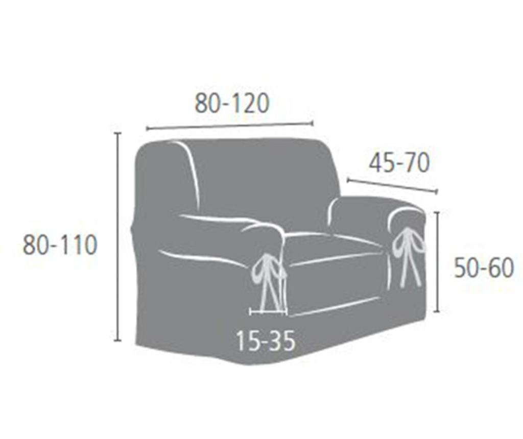 Levante White Fotel huzat 80x80 cm