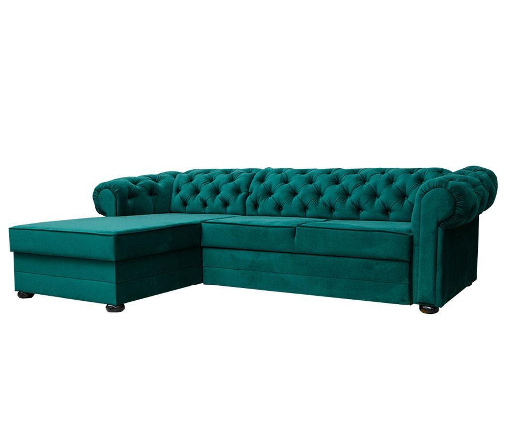 Coltar extensibil stanga Valentino Dark Green