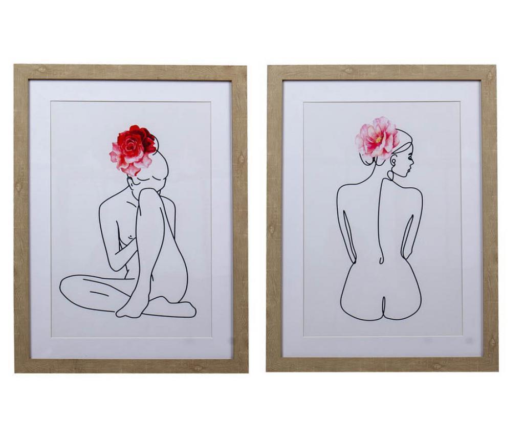 Σετ 2 πίνακες Viki 45x60 cm