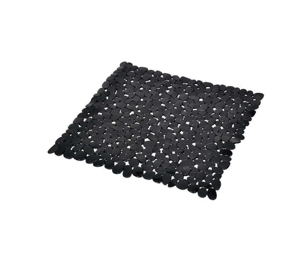 Covoras de cabina de dus Vitamine Black 52x52 cm