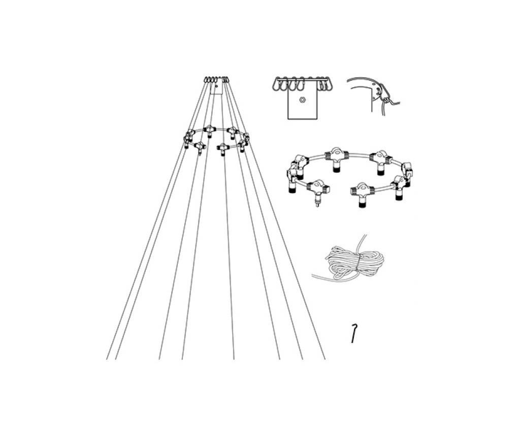 Suport pentru ghirlanda luminoasa Starter-Set