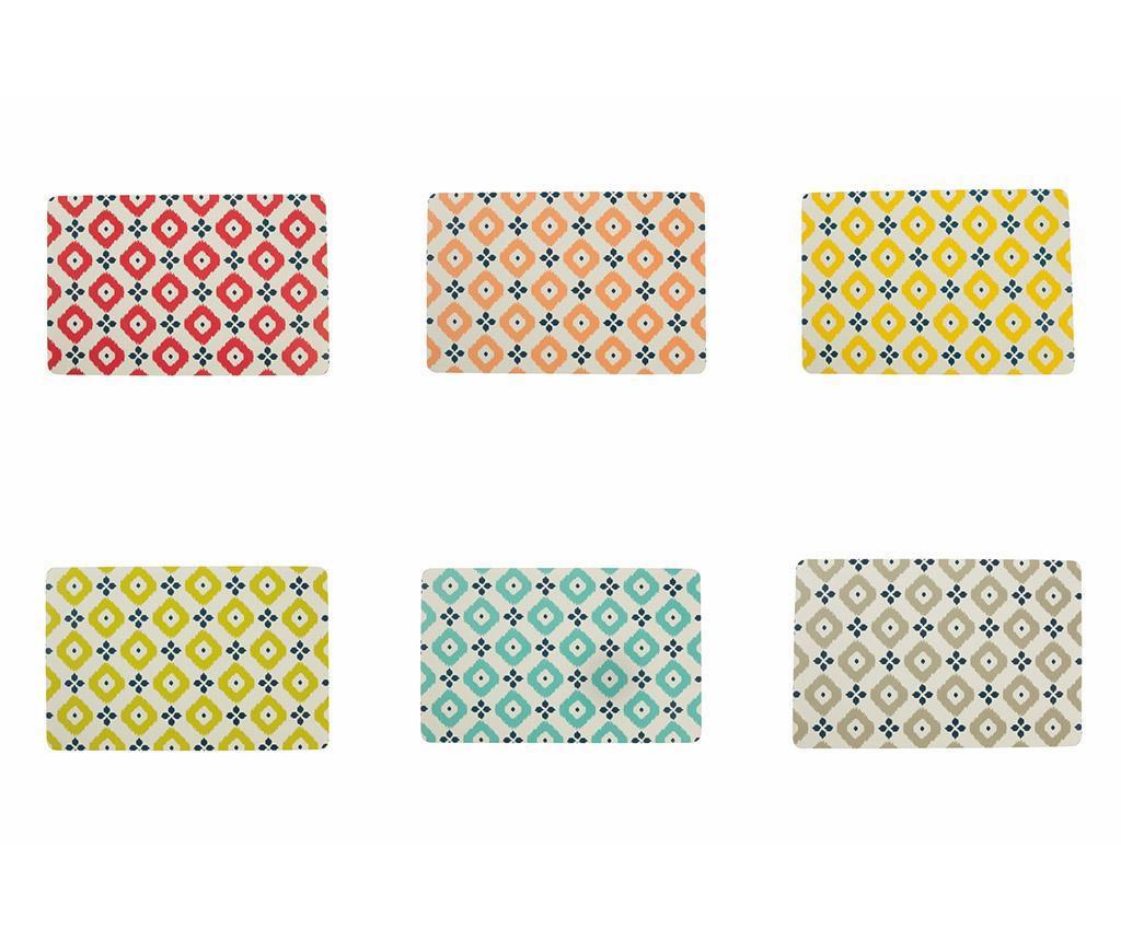 Set 6 pogrinjkov Fiji Pattern 28x44 cm