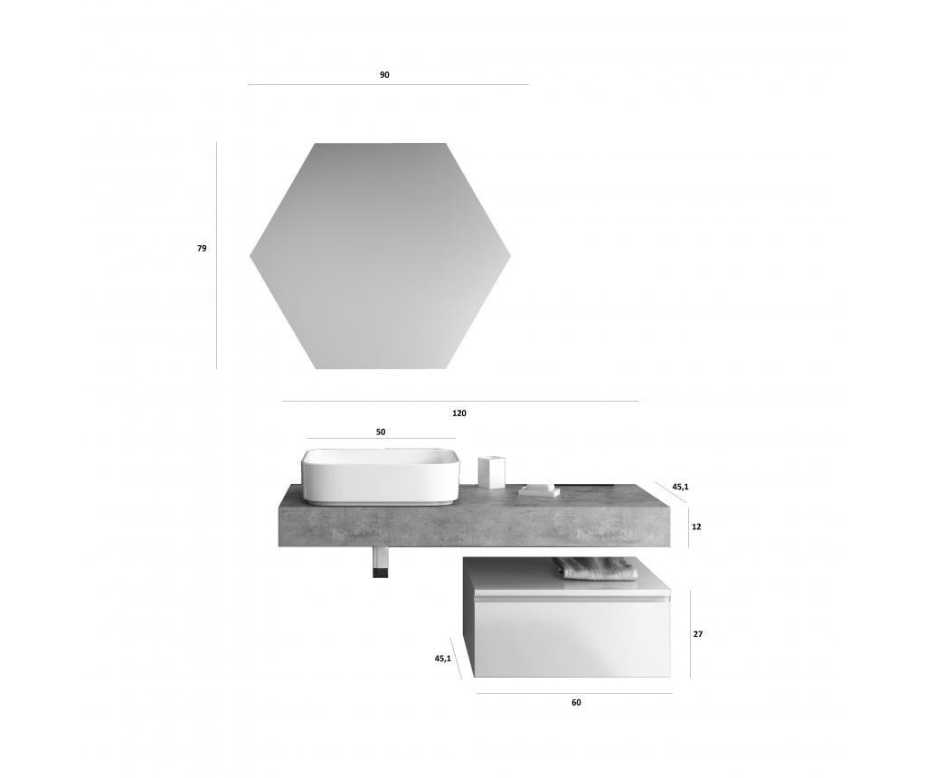 Czteroczęściowy zestaw mebli łazienkowych Yoka