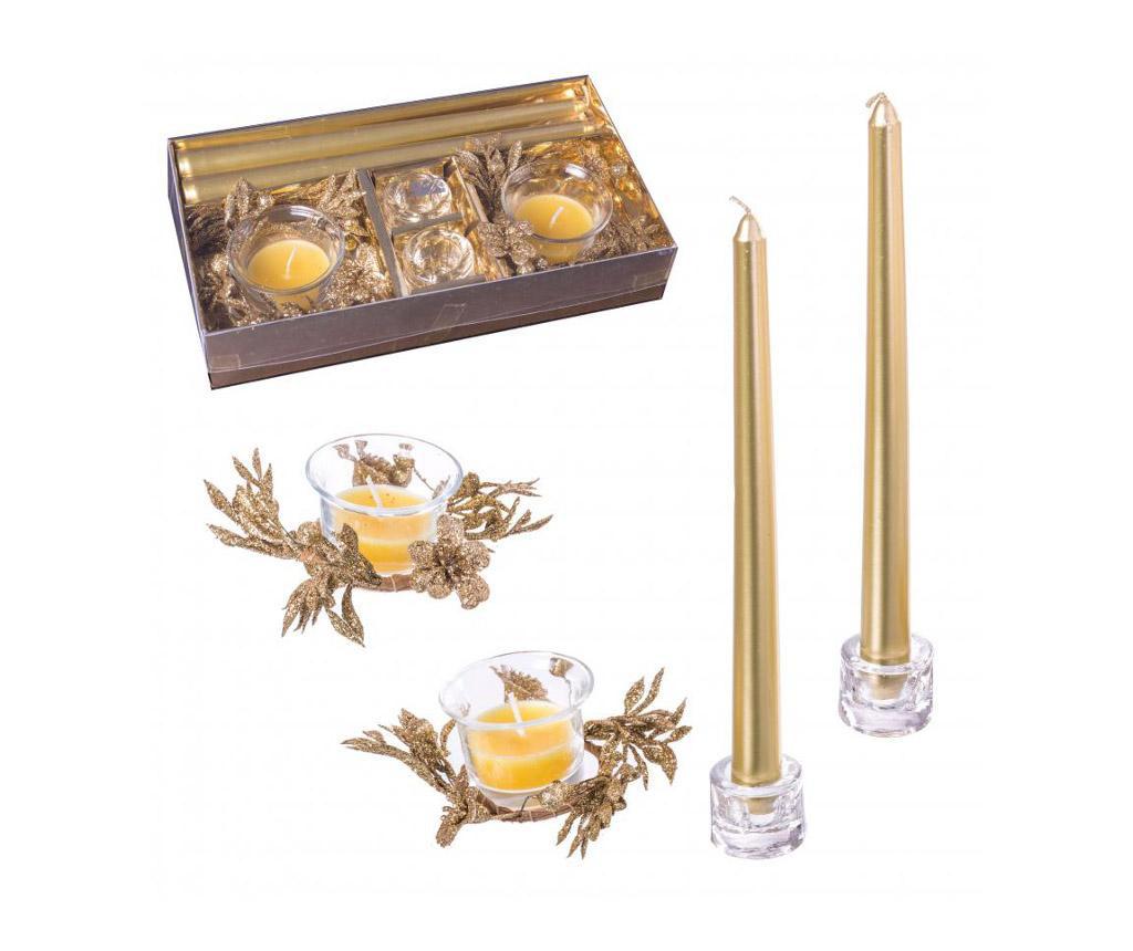 Set 4 svijeće sa držačima