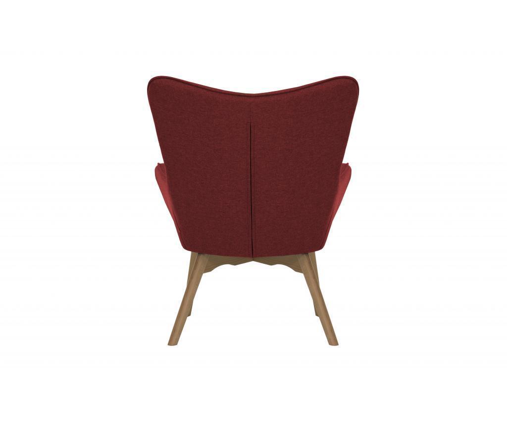 Zestaw fotel z podnóżkiem Ducon Light Malmo Red