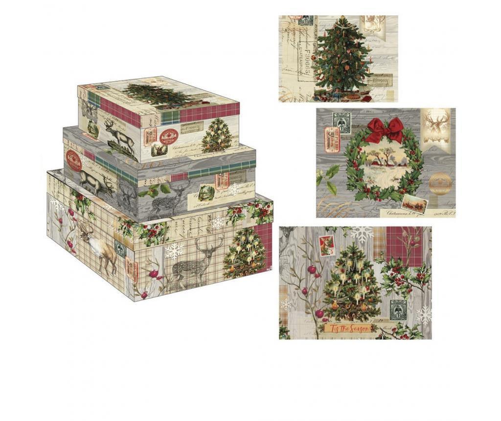 Set 3 škatel Christmas
