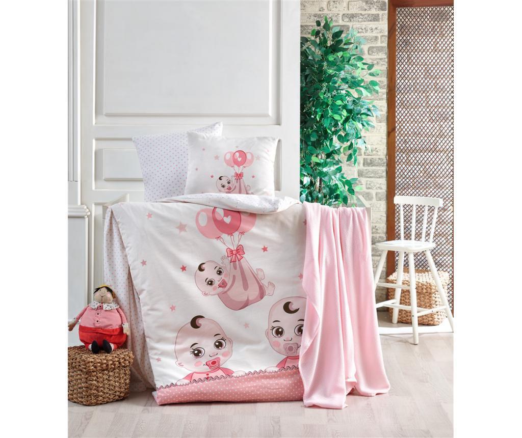 Posteljina za krevetić Babies Pink