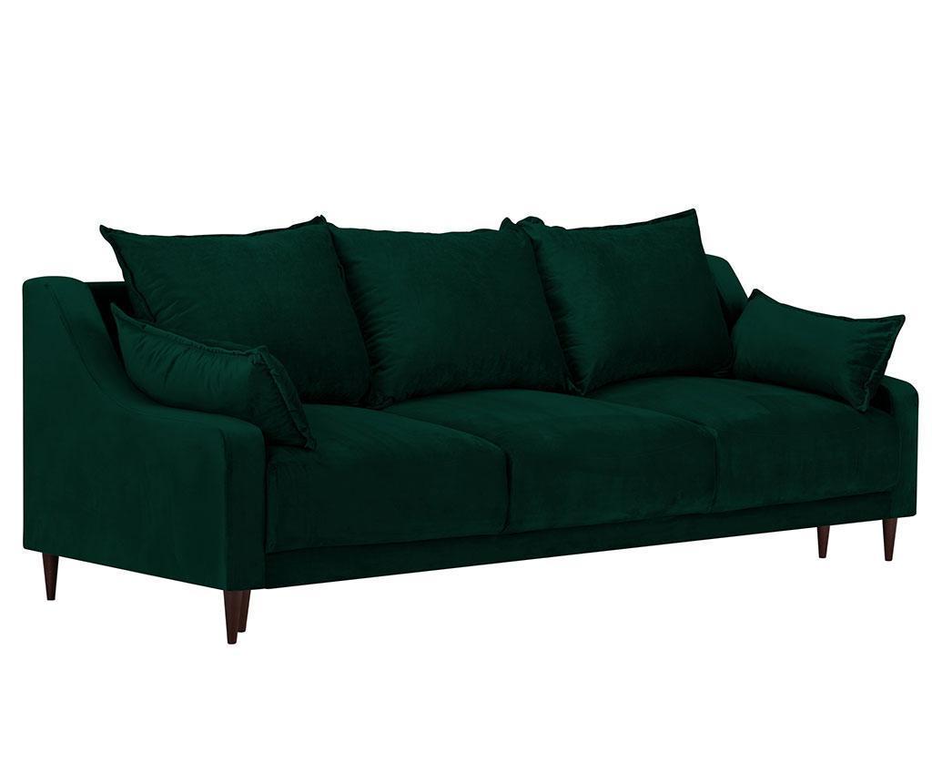 Canapea extensibila cu 3 locuri Freesia Bottle Green