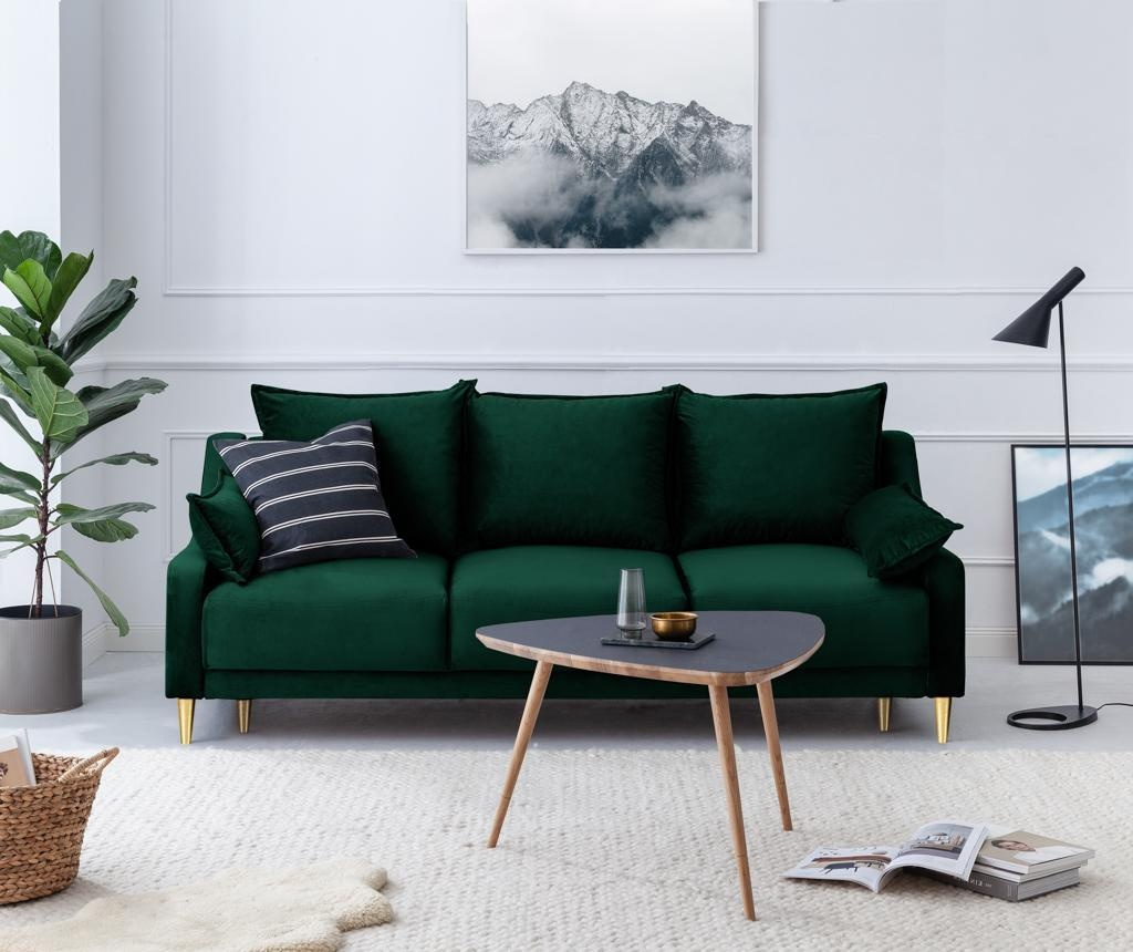 Rozkładana kanapa 3-osobowa Pansy Bottle Green