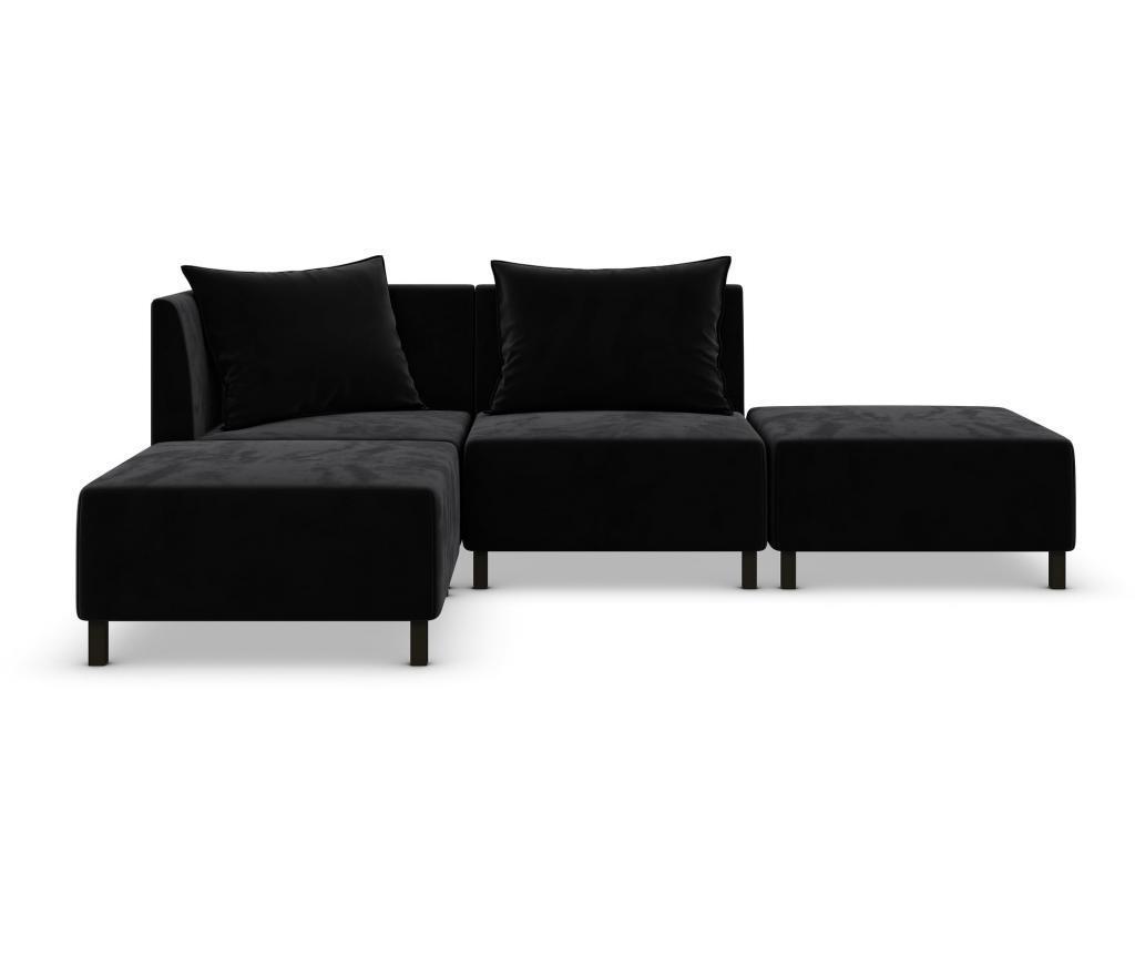 Canapea modulara 4 locuri Cristina Black
