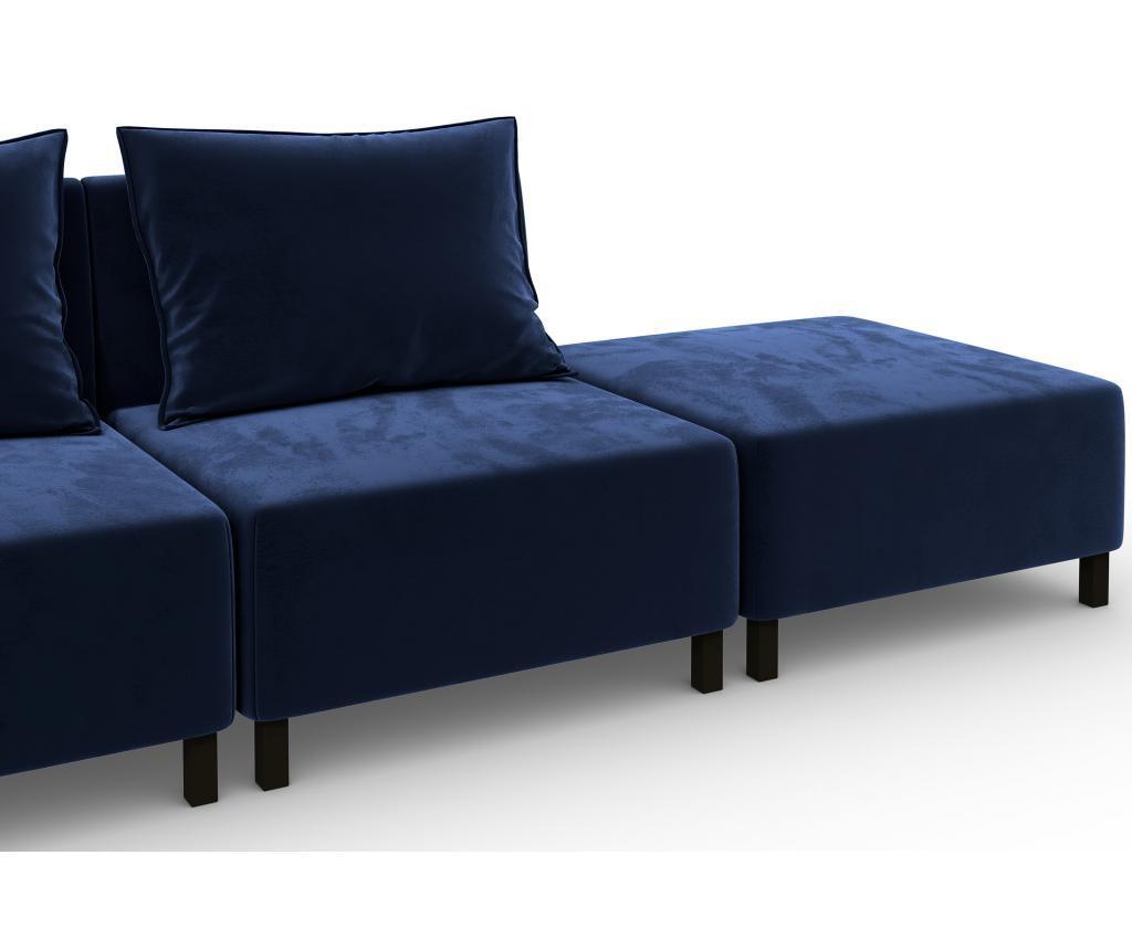 Canapea modulara 4 locuri Cristina Blue
