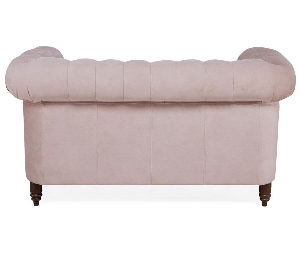 Kauč dvosjed Chesterfield Light Pink Jasmine Velvet