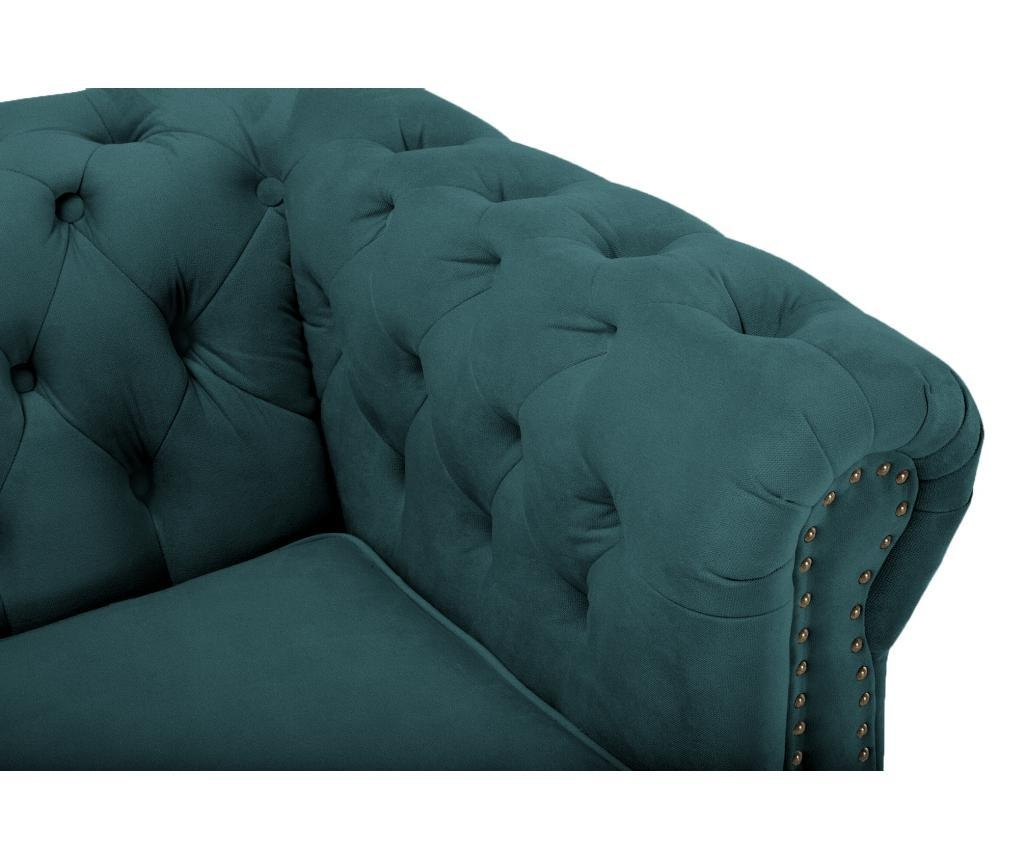 Canapea 4 locuri Chesterfield Bluegreen Turquoise Velvet