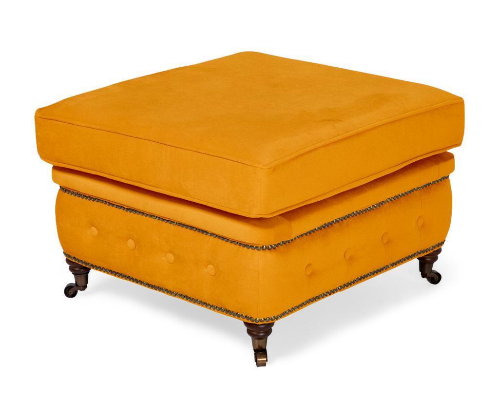 Taboret Chesterfield Yellow Velvet