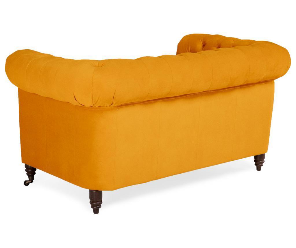 Kauč dvosjed Chesterfield Yellow Velvet