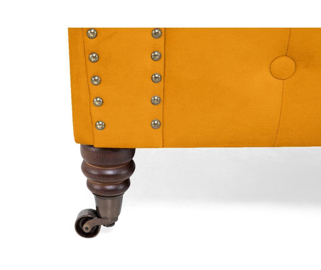 Chesterfield Yellow Velvet Kétszemélyes kanapé