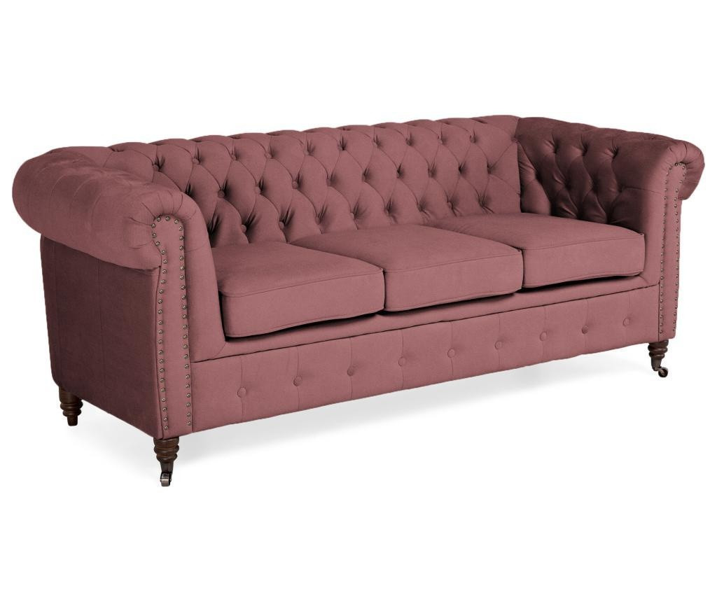 Trosed Chesterfield Rust Pink Velvet