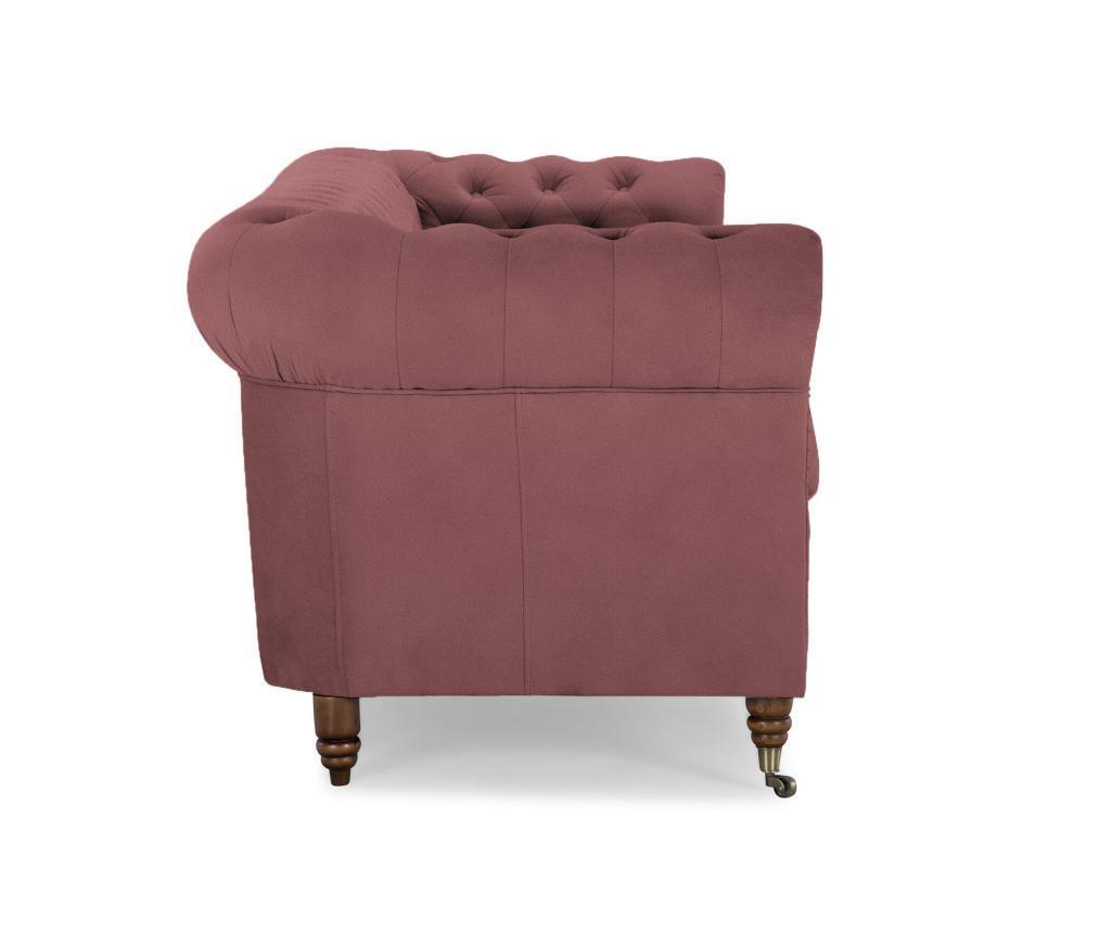 Canapea 4 locuri Chesterfield Rust Pink Velvet