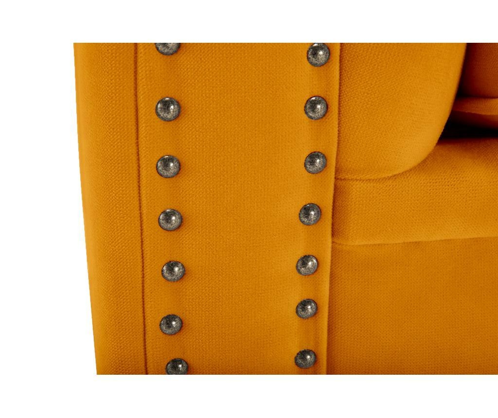 Canapea 4 locuri Chesterfield Yellow Velvet