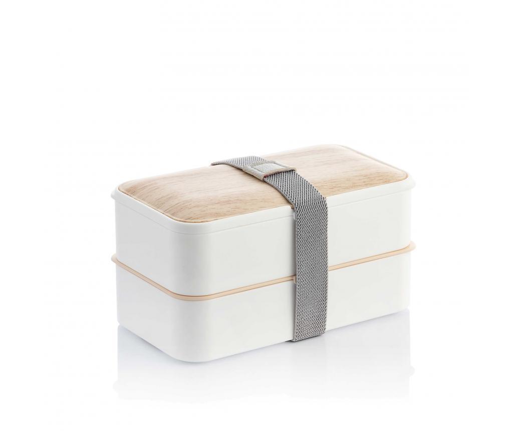 Škatla za hrano z jedilnim priborom