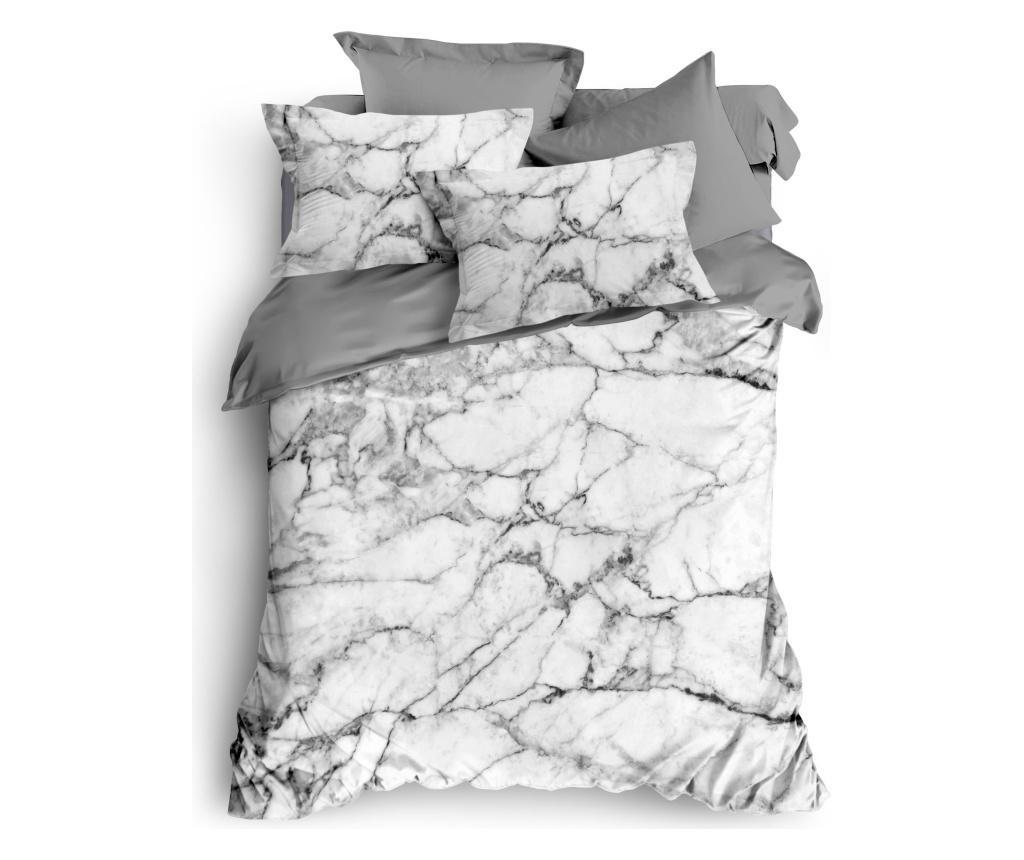 Lenjerie de pat King Grey Marble