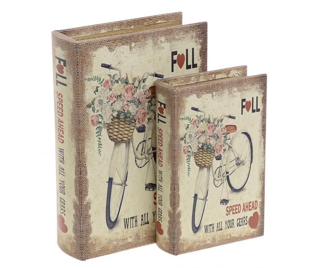 Set 2 cutii tip carte Gertrud