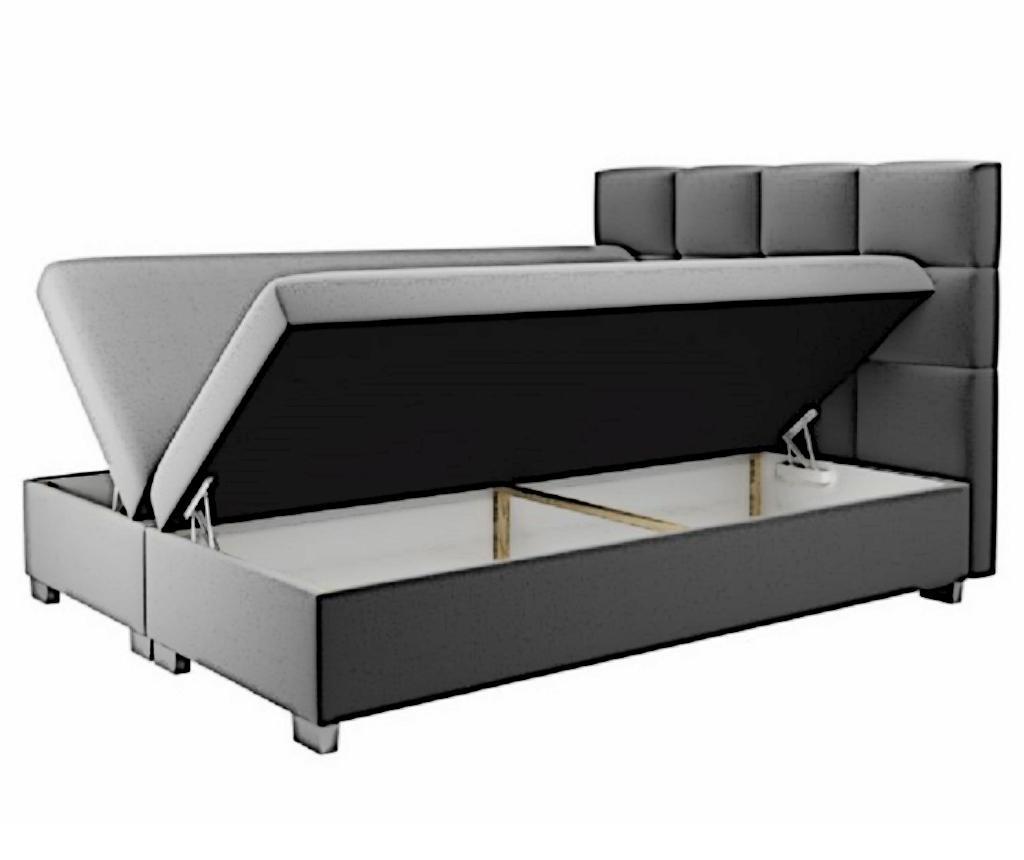 Boxspring postelja s prostorom za shranjevanje Kanada Blue 180x200 cm