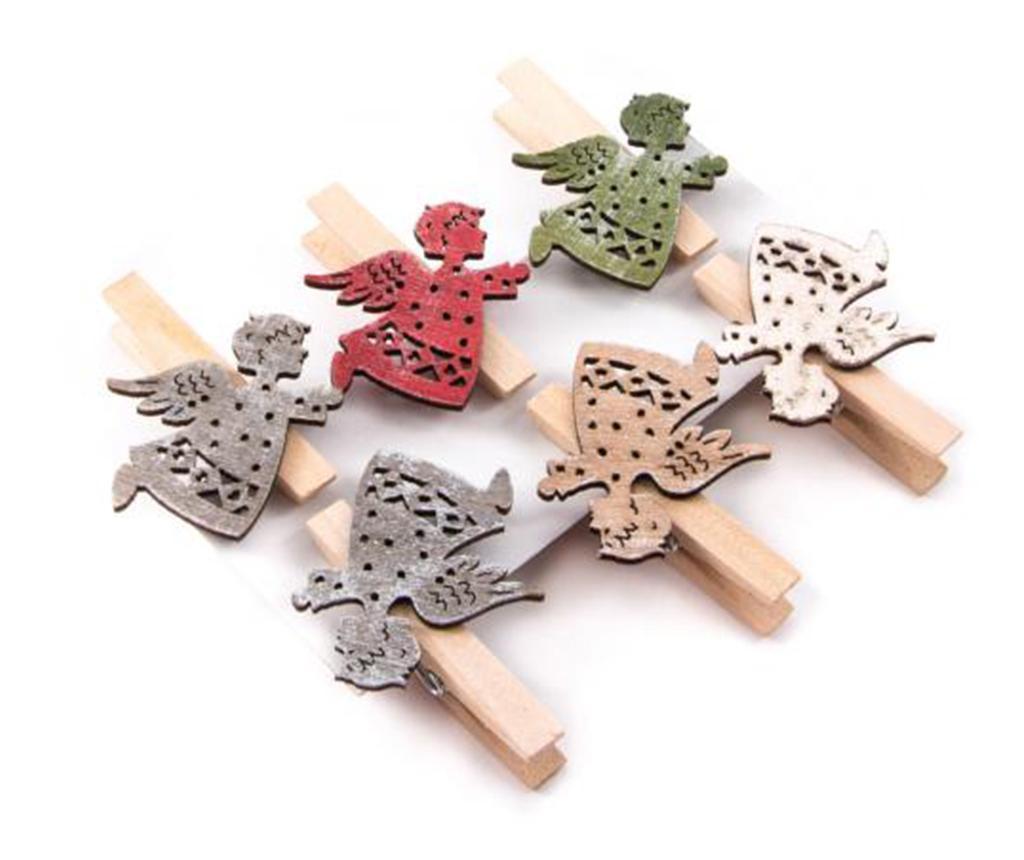 Set 6 štipaljki za rublje Angel