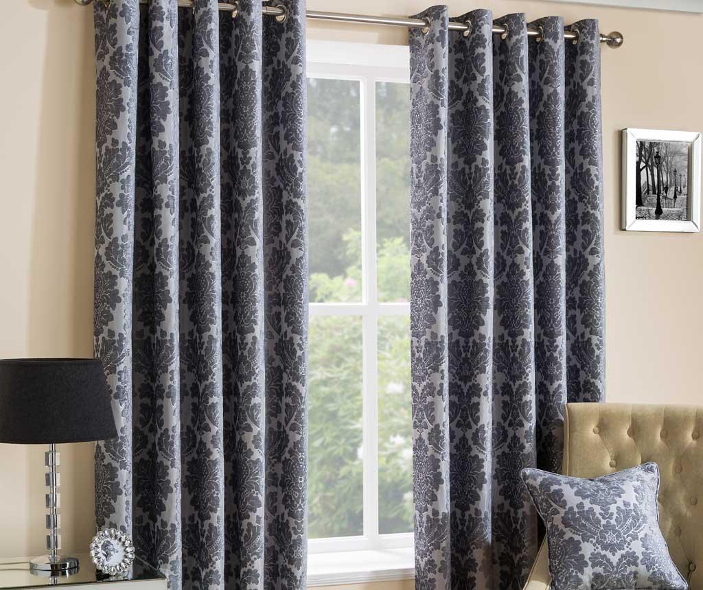 Set 2 draperii Park Lane Grey 117x229 cm