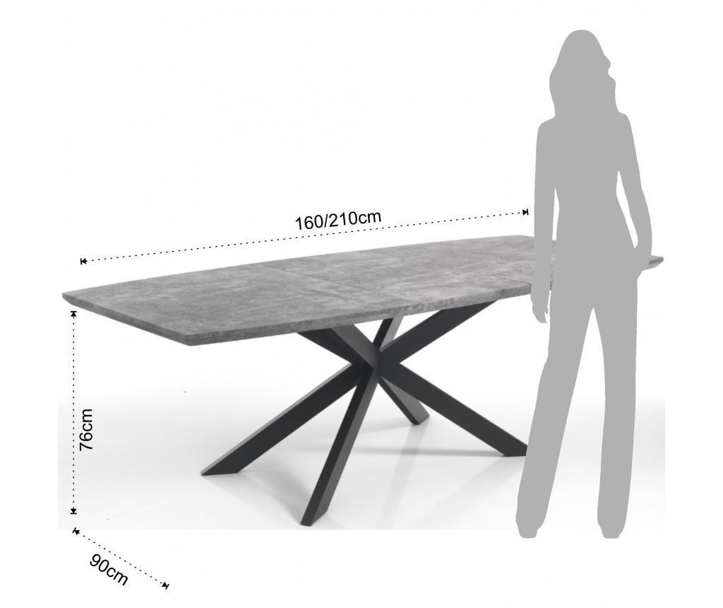 Hics Cement Kihúzható asztal