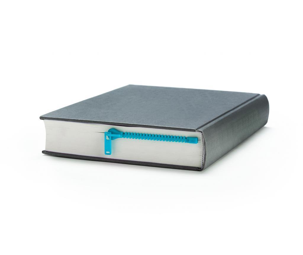 Peleg Design Zipmark Blue Könyvjelző