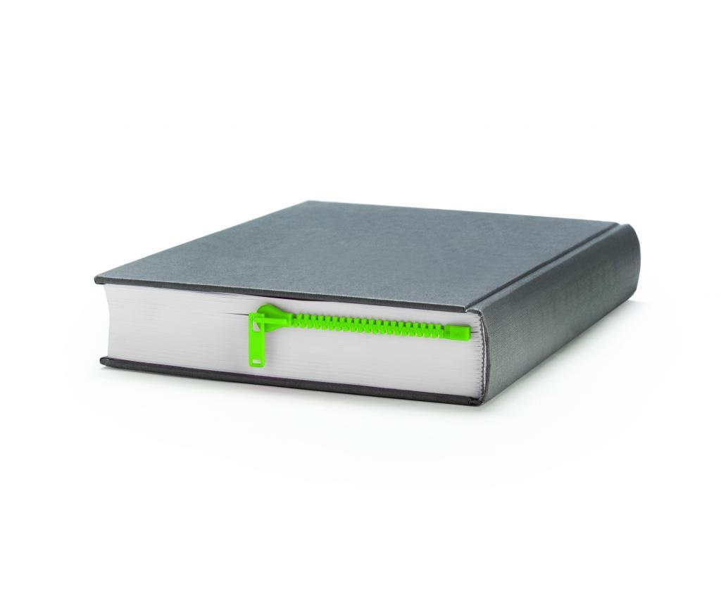 Peleg Design Zipmark Green Könyvjelző