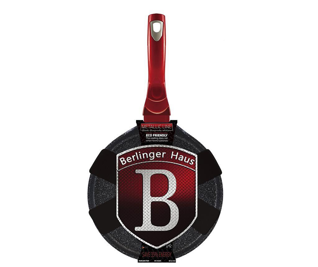 Metallic Black Burgundy Palacsintasütő serpenyő 25 cm