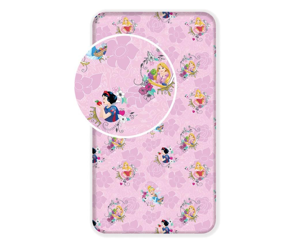 Cearsaf de pat Disney Princess 90x200 cm