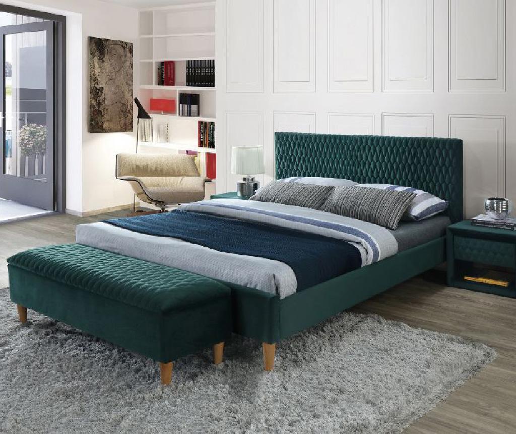 Postel Azzuro Velvet Green 160x200 cm