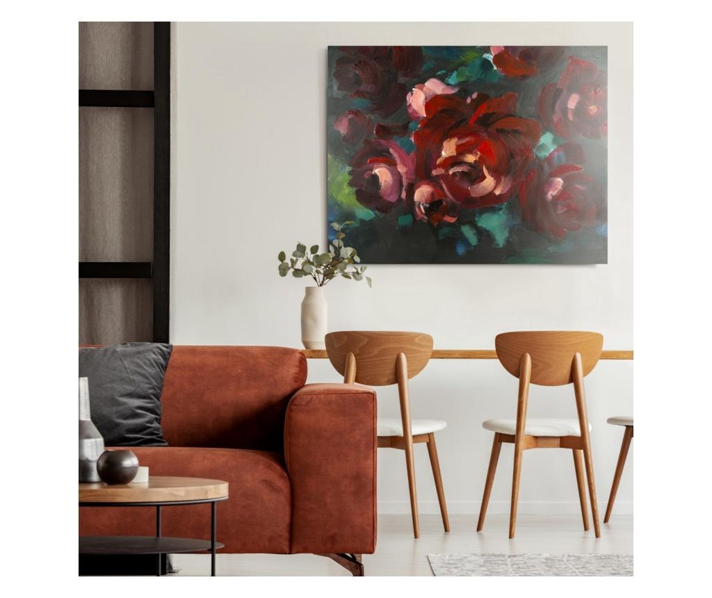 Tablou Red Bouquet 80x100 cm