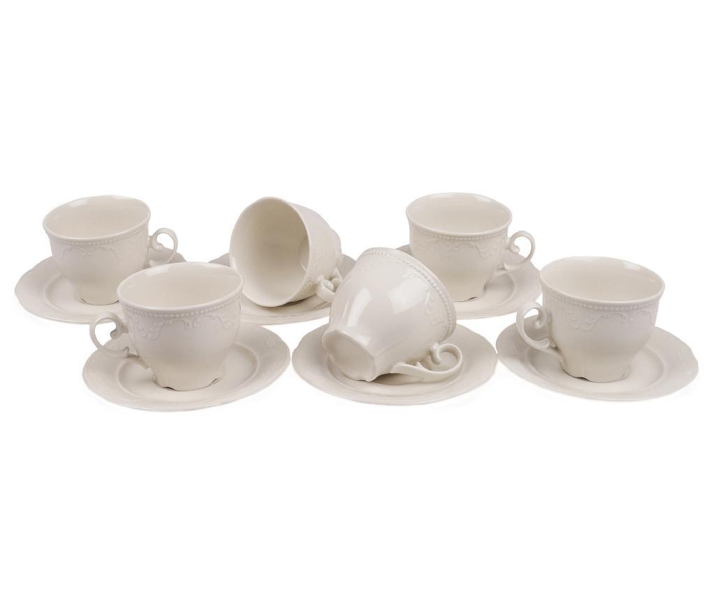 Set 6 cesti si 6 farfurioare Tea Simple Elegance
