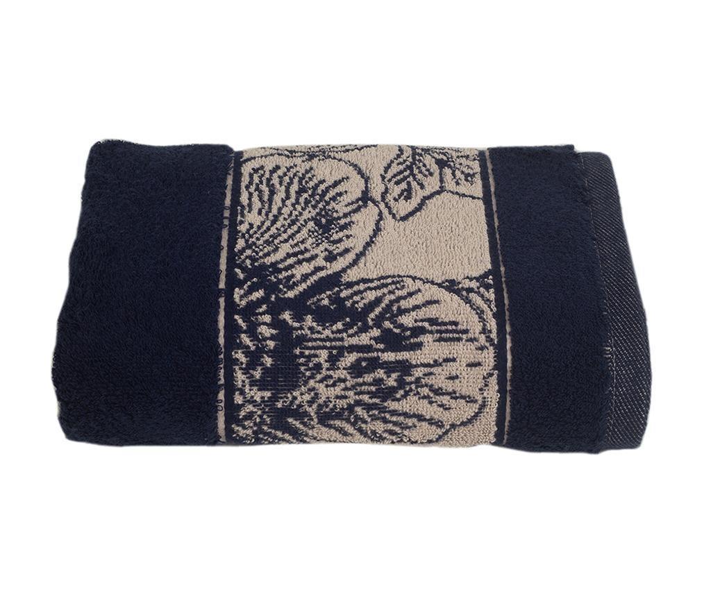 Ręcznik kąpielowy Lotus Navy Blue 50x90 cm