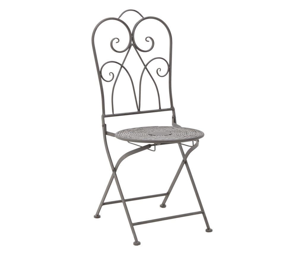 Set masa si 2 scaune Metallic Antique
