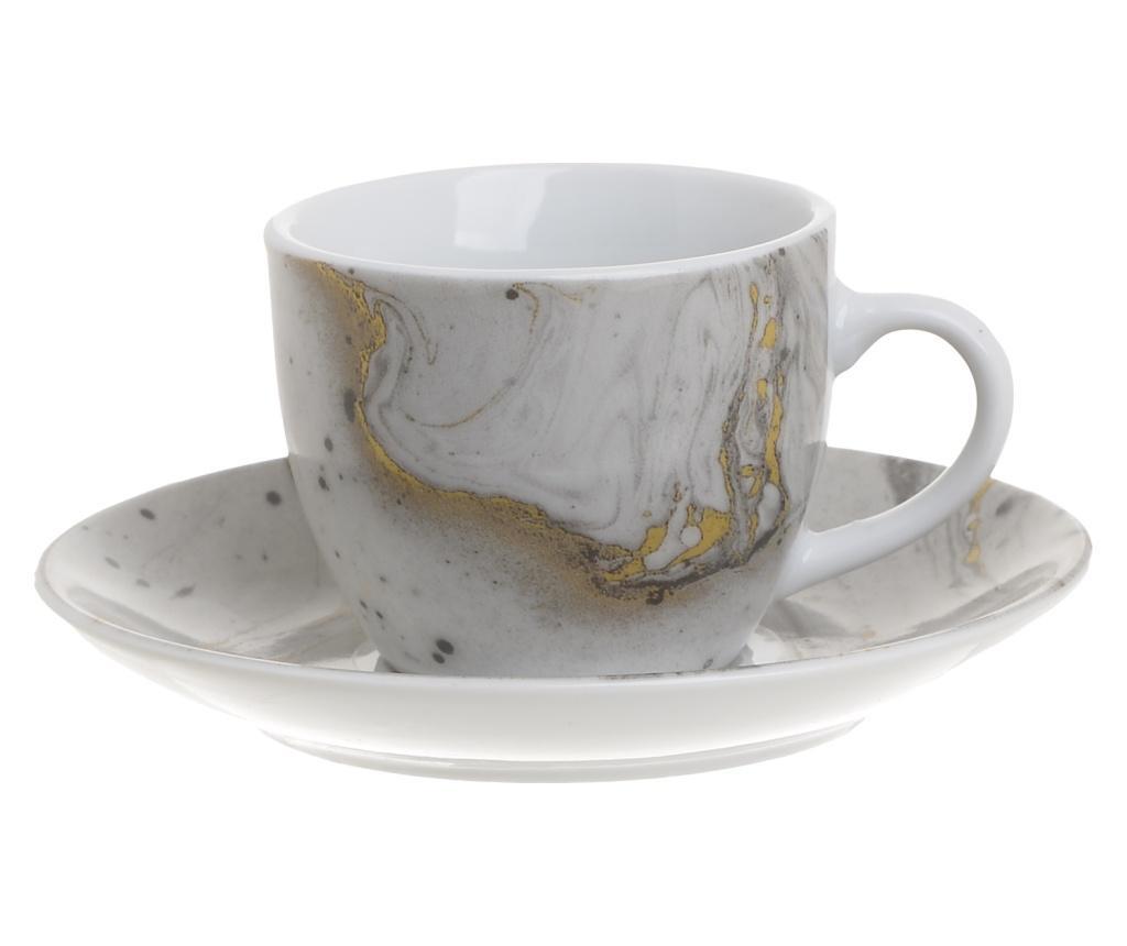 Coffee Marble 6 db Csésze kistányérral