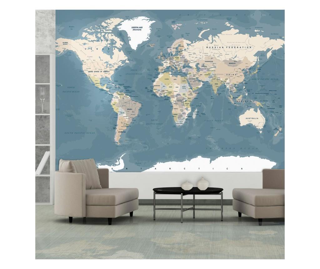 Vintage World Map Fotótapéta 70x100 cm