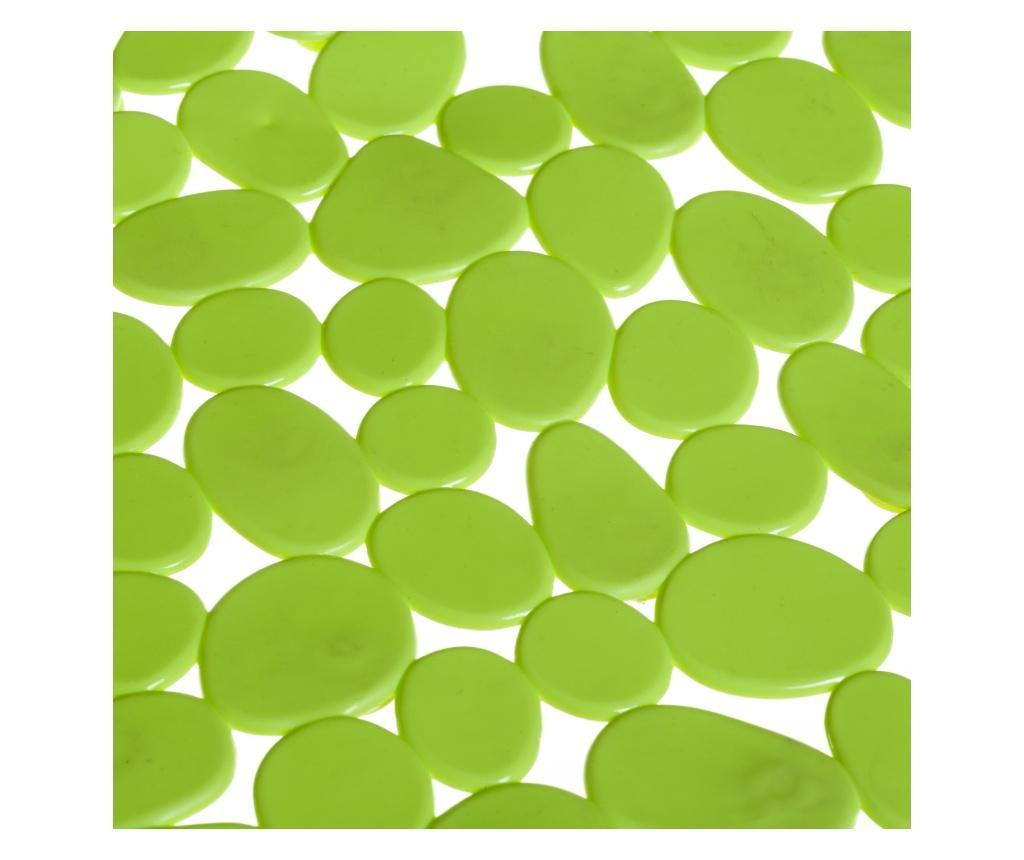Covoras de baie Pebble Green 35x70 cm