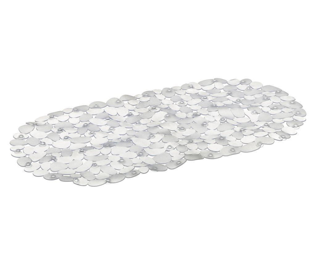 Covoras de baie Stone Clear 34x67 cm